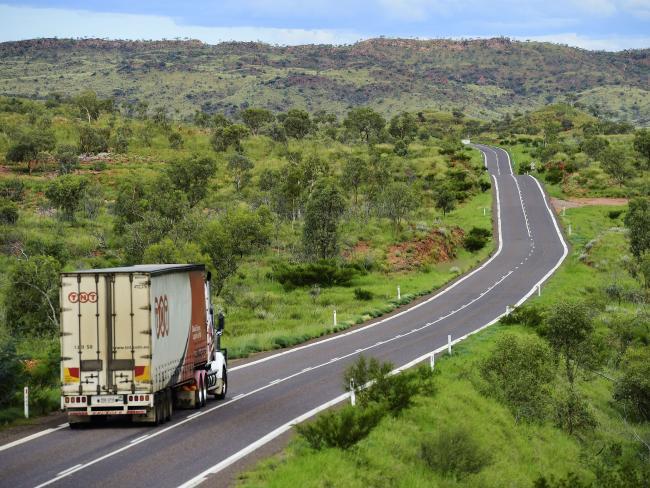 Works have begun on the Flinders Highway.