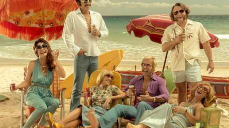 Swinging Safari features an all-star Australian cast including Guy Pearce, Kylie Minogue, Asher Keddie, Julian McMahon, Radha Mitchell.