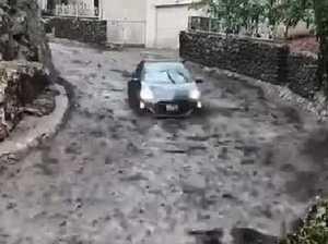 Video shows couple's mudslide survival