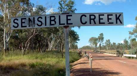 Sensible Creek near Charters Towers, where the skeleton of Robin Hoinville-Bartram, 18, was found shot in the head in 1972.