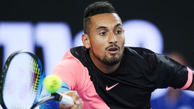 Nick Kyrgios is a legitimate contender heading into the Australian Open. Picture: Getty Images