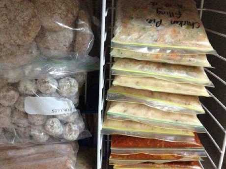 Inside the Toowoomba mum's freezer — meal prep at its best. Image: Supplied