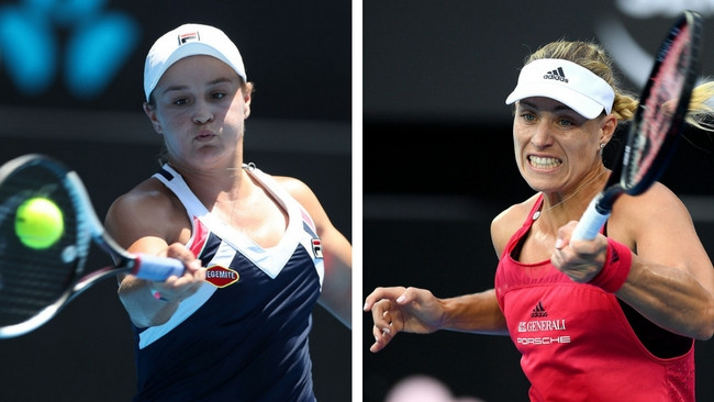Ashleigh Barty has beaten world No.3 Angelique Kerber.