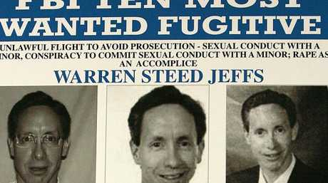 Jeffs went on the run in 2006 after his sick crimes were exposed.