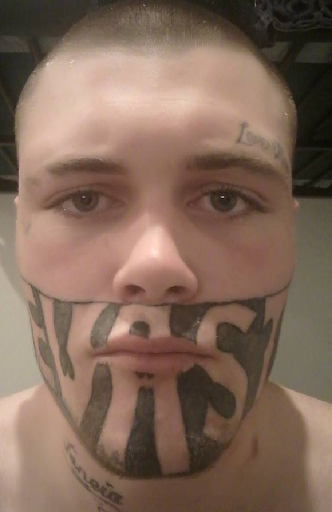 Mark Cropp's face tattoo was off-putting for many employers. Picture: Mark Cropp/Facebook