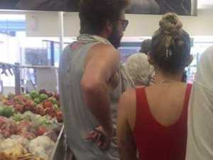 Cyrus, Hemsworth leave fans star struck as they shop at IGA