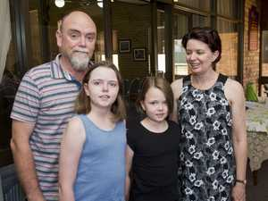 ( From left ) Neil, Mali, Kira and Gina Dawson at the