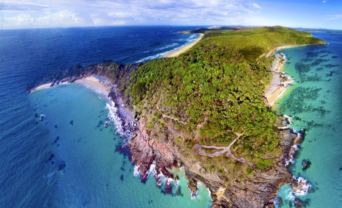 STUNNING: Noosa National Park shot via a drone.