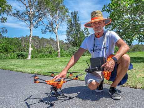 Vertigo Imaging drone specialist Philippe Lamarque tests out his gear.