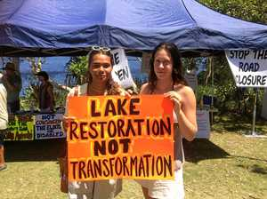 Lake Ainsworth protest