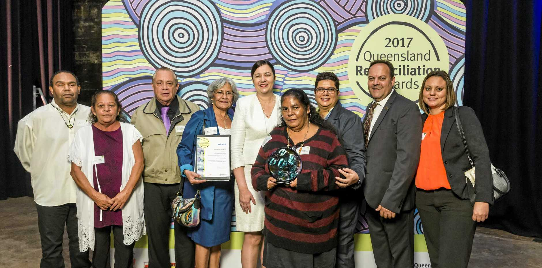 North Keppel Island Environmental Education Centre with Premier Annastacia Palaszczuk at the 2017 QLD Reconciliation Awards Ceremony, Tanks Arts Centre, Cairns.