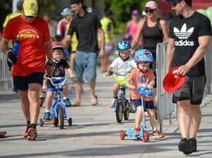 WATCH: Eager youngsters take on Fitzroy Frogs' duathlon