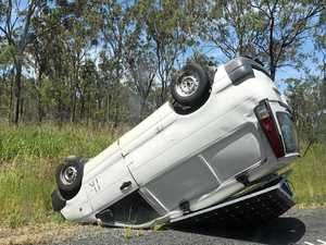 BREAKING: Bruce Highway vehicle roll over south of Rocky