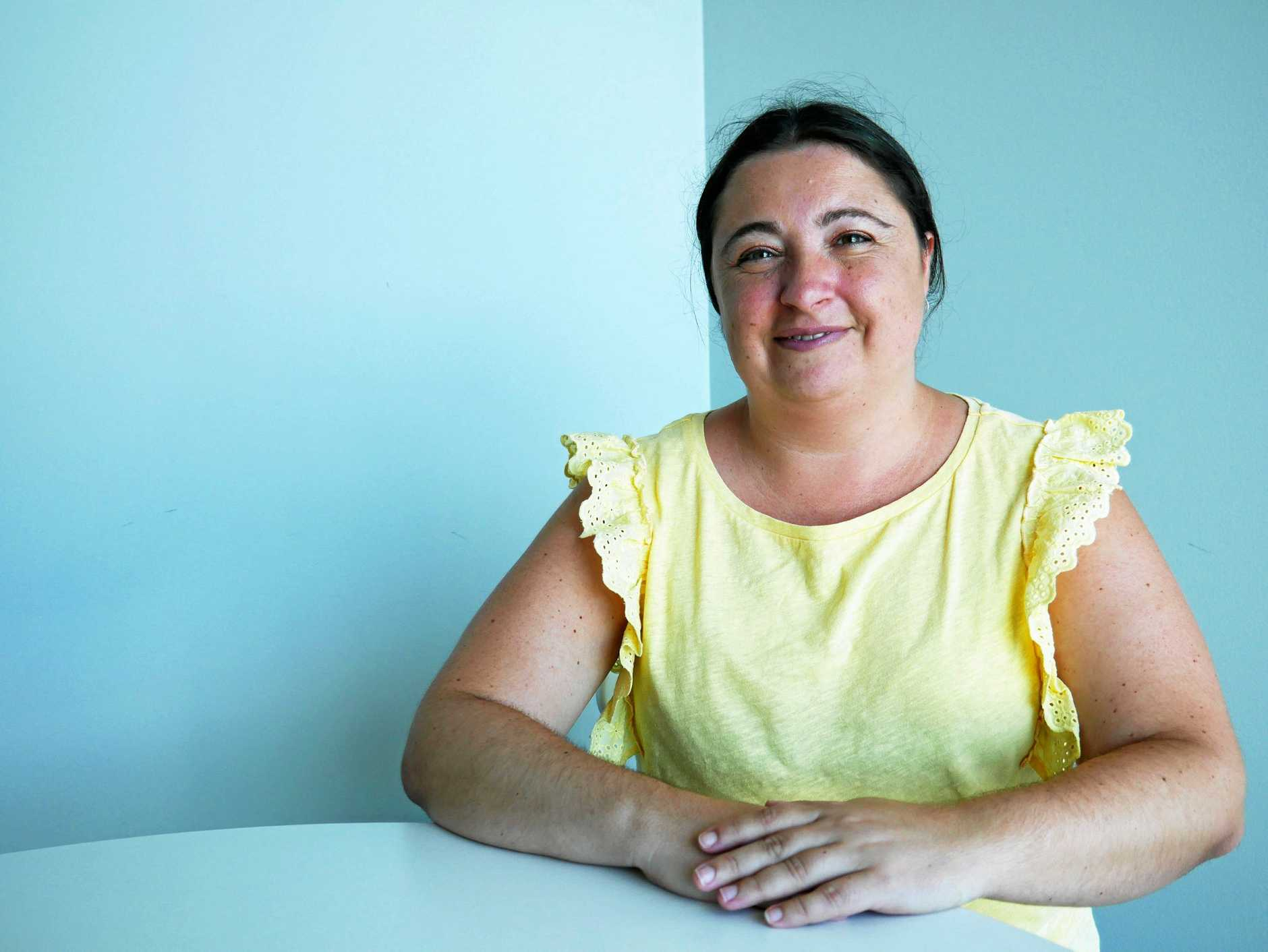 DETERMINED TO WORK: Evie Pavone has been looking for a permanent job for about six years.