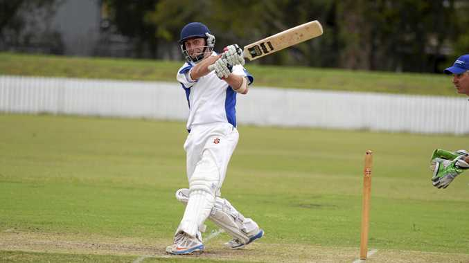 Harwood batsman Doug Harris during the CRCA premier league match between Harwood and Tucabia at Harwood Oval on Saturday, 21st January, 2017.