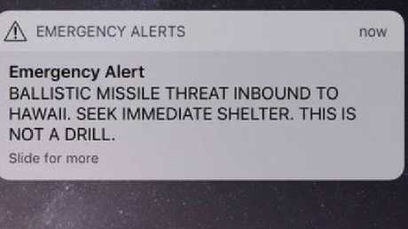 The false alarm caused widespread panic.