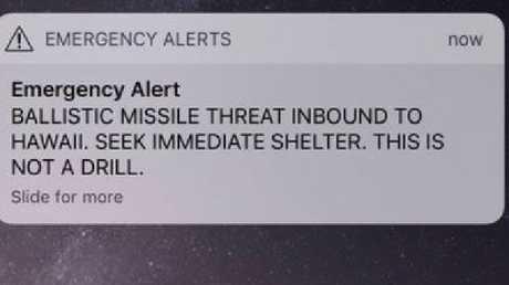 The false alarm caused widespread panic.