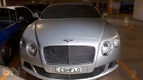 "His $200,000 Bentley with the numberplate ""CSHFLO""."