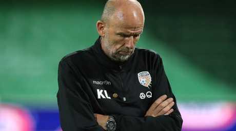 Perth coach Kenny Lowe is under pressure.