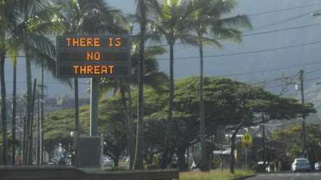 Hawaii's civil defence warning devices, which sounds an alert siren during natural disasters, were also sounded. The department couldn't say who authorised that.