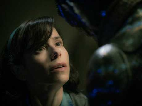 Sally Hawkins in a scene from the movie The Shape of Water.