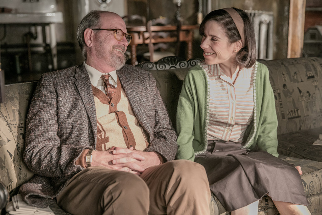 Richard Jenkins and Sally Hawkins in a scene from the movie The Shape of Water.