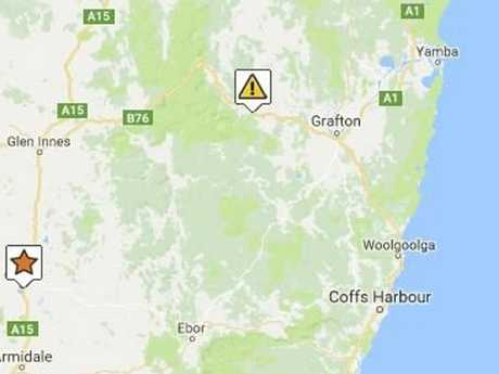 A two truck crash west of Grafton has closed the Gwydir Highway in both directions.