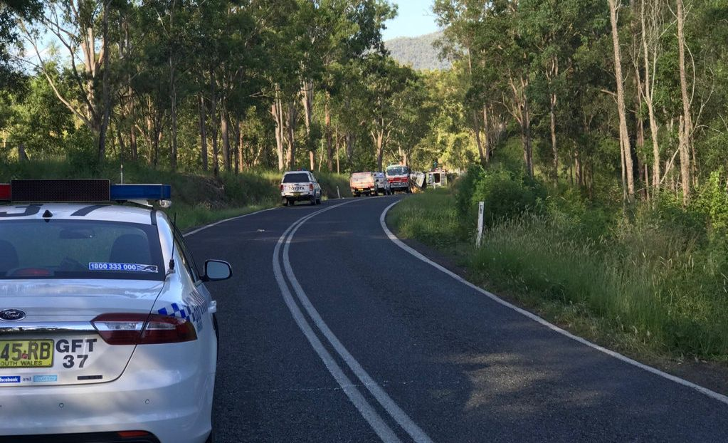 A double fatality involving two trucks west of Grafton closed the Gwydir Highway in both directions.