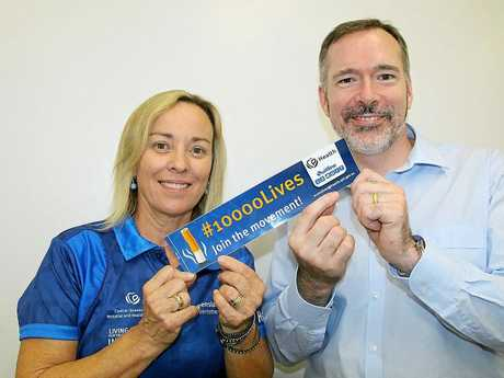 CQ Health's 10,000 Lives Project Officer Caron Williams and Chief Executive Steve Williamson.