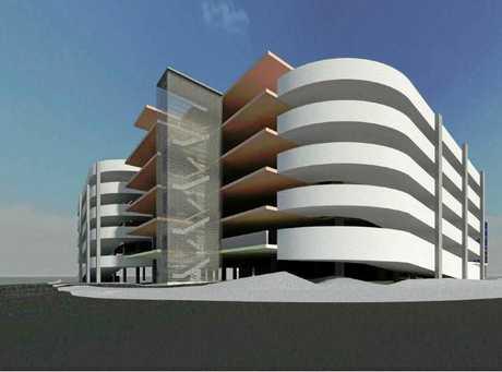 Concept drawings for the Rockhampton Hospital multistorey car park