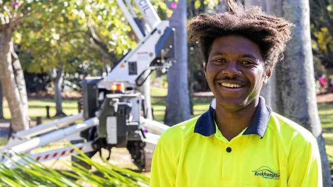Jasiah Dorman, Apprentice Arborist with Rockhampton Regional Council.