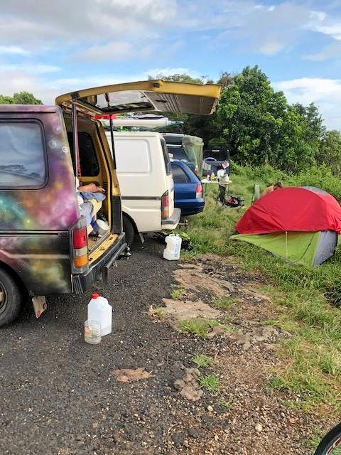 Byron Shire Council is concerned about the spike in illegal camping at Scarabolittis Lookout at St Helena.