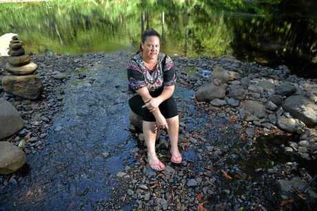Benita Guilfoyle was stung on the foot by a freshwater stonefish while swimming in Hell Hole Creek, Mooloolah Valley, and suffered severe pain.