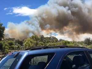 WATCH: Bushfire engulfs grass on outskirts of Warwick