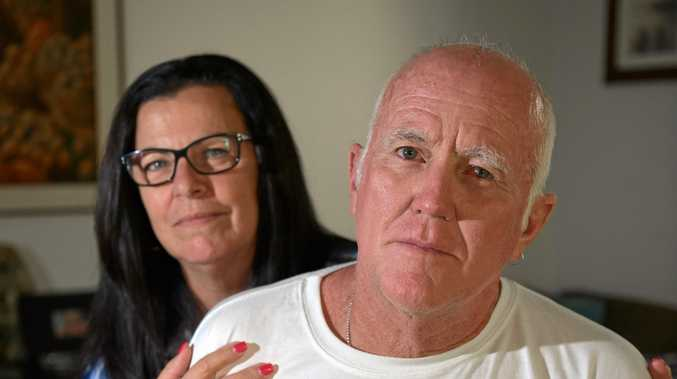 HEARTBROKEN: Coast tradie Tony McDuie, pictured with wife Petra, has lost 40 years' worth of tools after thieves broke into his Marcoola home on Sunday afternoon.