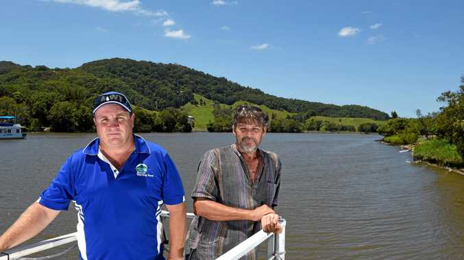 UNCERTAIN: Michael Simmons and Geoff Butterworth are worried about the Tweed Shire Council's plan to manage the Tweed River.