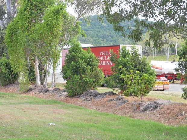 Two men died on Saturday at a transport business at Sarina Beach Rd.