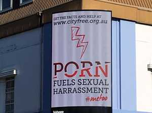 Anti-porn billboard lights up busy CBD intersection