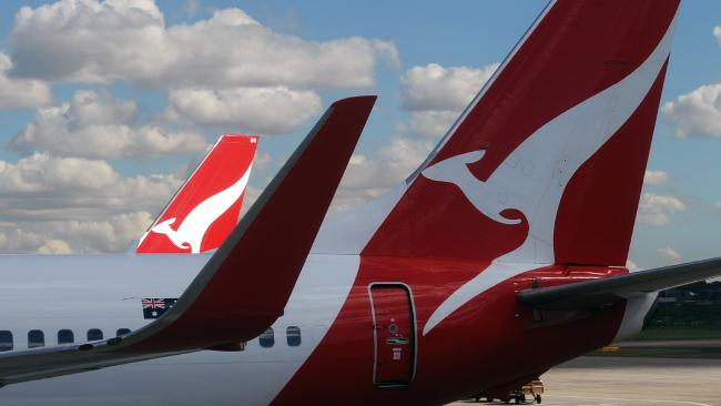 Qantas has apologised after some Perth-bound passengers' bags were left behind in Sydney. Picture: AAP/Joel Carrett