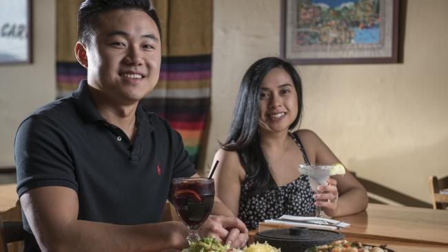Husband and wife team Charley Tey and Cindy Chau from Carlos Cantina, a Mexican restaurant in Boronia. Picture: Christopher Chan
