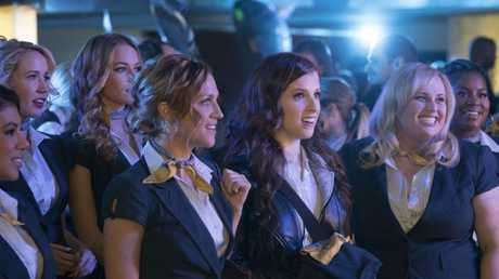 The only decent Aussie accent in Pitch Perfect 3 belongs to actual Aussie Rebel Wilson's character Fat Amy. (Pic: Supplied)