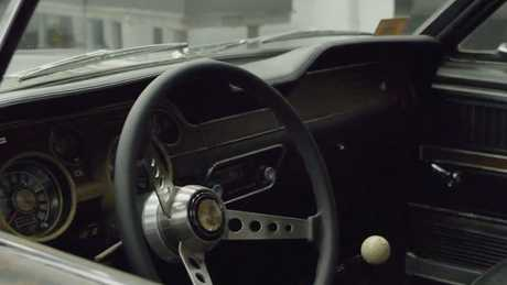 The interior of the original Bullitt Mustang. Picture: Supplied.
