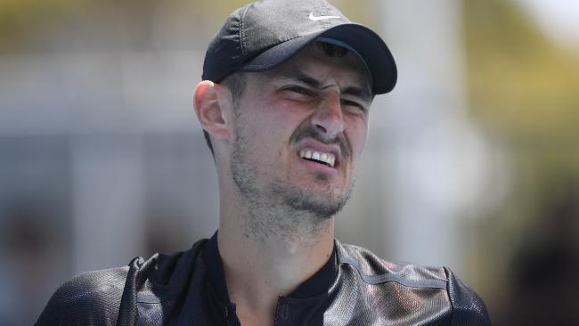 Bernard Tomic during Australian Open qualifying.