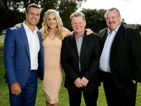 Paul Vautin isn't part of the Footy Show gang anymore but Beau Ryan (l) and Darryl Brohman (r) remain. Picture: Gregg Porteous