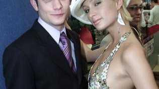 Former Australian Idol star Rob Mills and Paris Hilton in 2003.