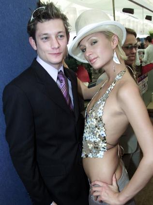 Former Australian Idol star Rob Mills and Paris Hilton in 2003.