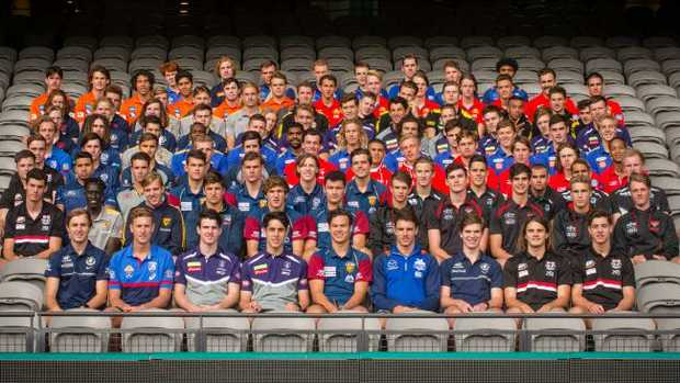 The AFL draft class of 2017. Picture: Eugene Hyland