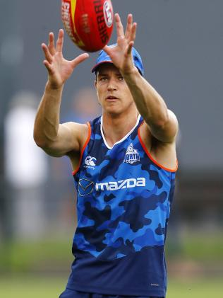 Luke Davies-Uniacke at North Melbourne training. Picture: Michael Klein