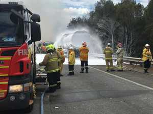 Tanker explodes on NSW highway