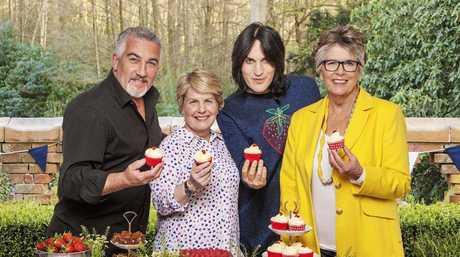 Paul Hollywood, Sandi Toksvig, Noel Fielding and Prue Leith star in season eight of The Great British Bake Off.